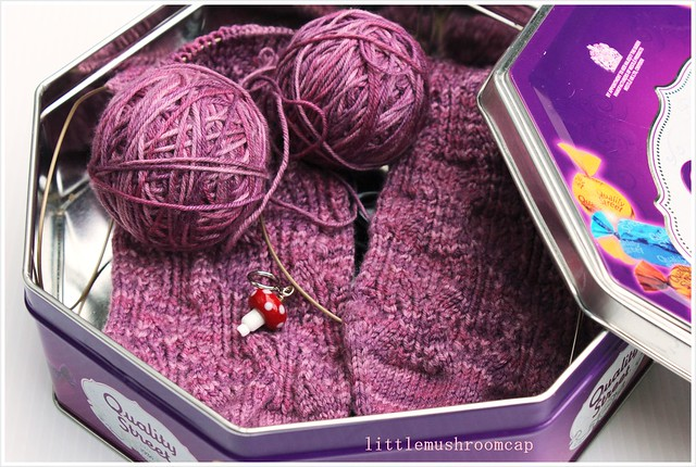 My Sock knitting Project box