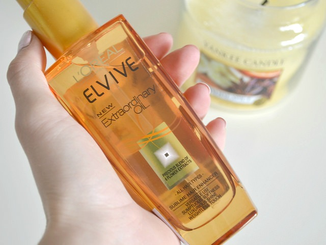 loreal Elvive new extraordinary hair oil