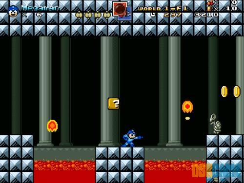 Megaman en Mushroom Kingdom Fusion