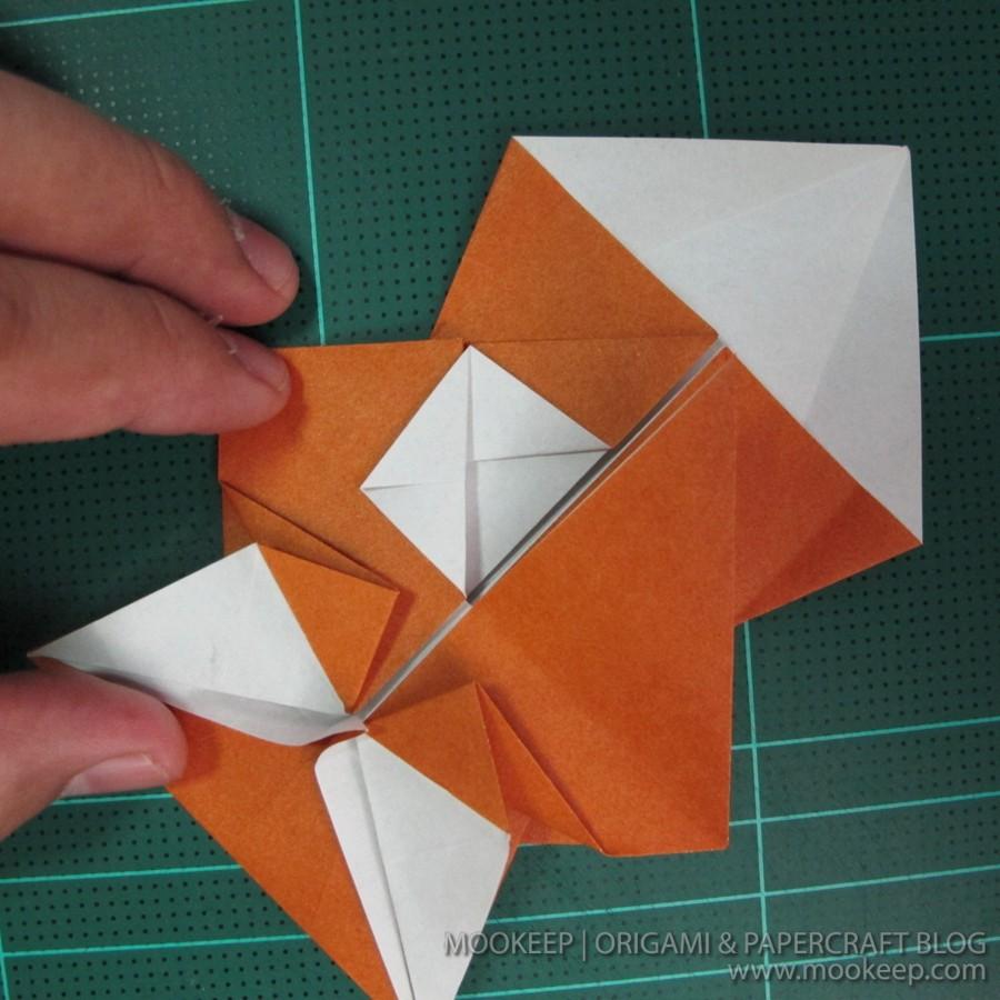 วิธีพับกระดาษเป็นรูปหมี (Origami Bear) 018