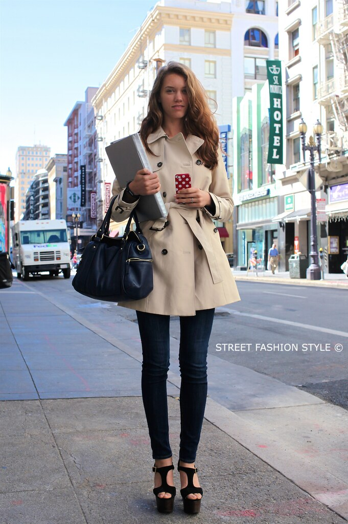 jawbone up bluetooth fitness band, zara trench, jimmy chop wooden platform sandal, san francisco streetstyle fashion blog, STREETFASHIONSTYLE, street fashion style,
