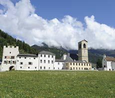 Klášter St. Johann vúdolí Val Müstair vGraubündenu