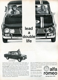 1966 Alfa Romeo Giulia Super Advertisement Road & Track October 1966