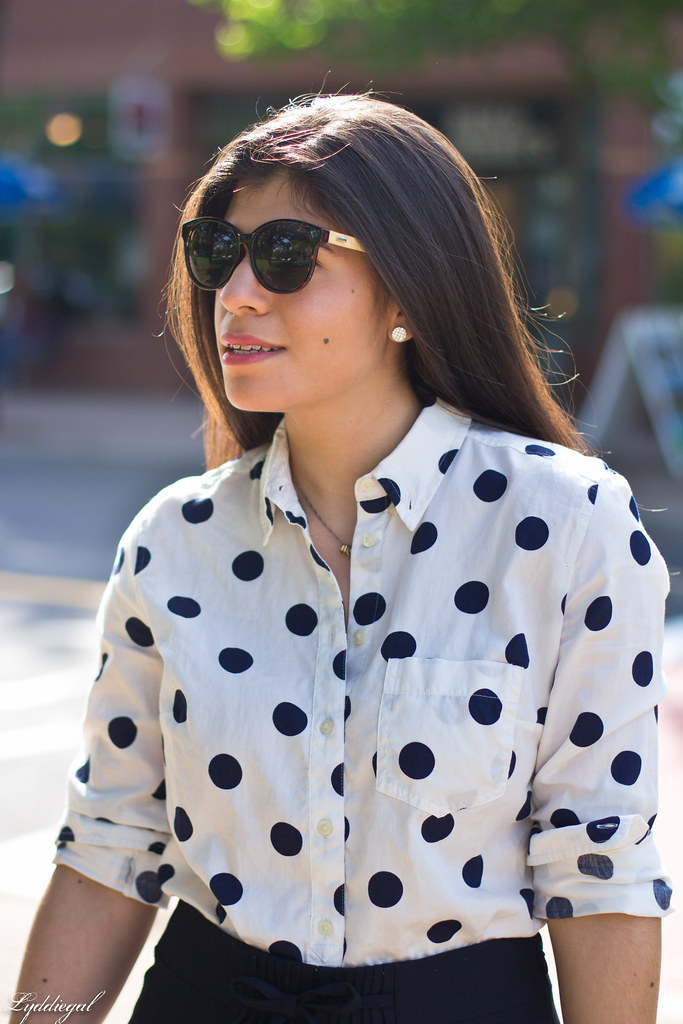polka dot blouse, navy skirt-4.jpg