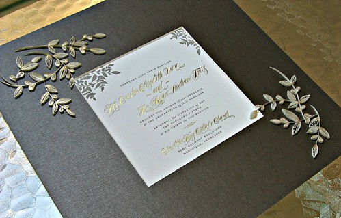 Quilled Wedding Invitation Mat by Ann Martin