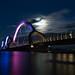 The Sölvesborg Bridge in moonlight no 1 by Bhalalhaika