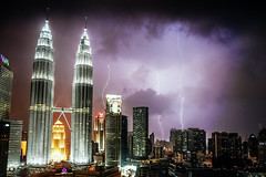 Petronas Towers Lightning