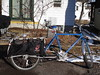 Got the Blue Truck/Xtracycle out today to pick up our CSA Winter Farm Share. All those root veggies are heavy.