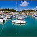 St Aubins Harbour Panorama