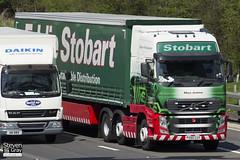 Volvo FH 6x2 Tractor - PX60 CUY - Maya Jemima - Eddie Stobart - M1 J10 Luton - Steven Gray - IMG_8505