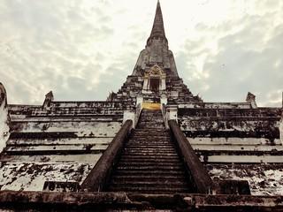 Image of Wat Phu Khao Thong. thailand temple ruins ayutthaya