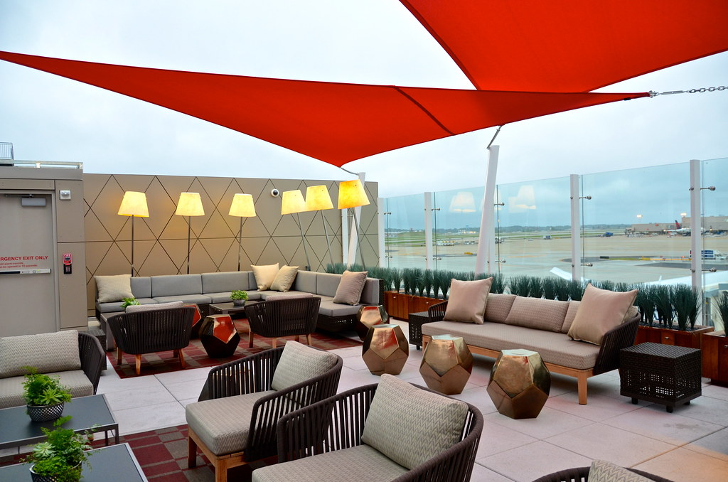 Delta's Sky Deck Lounge in Atlanta