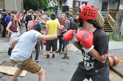 Boxing at the Fun Boy Club House