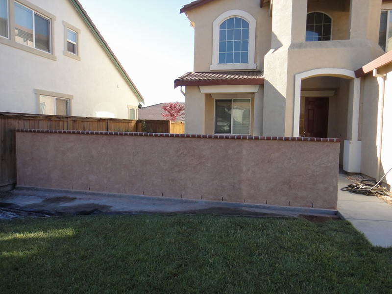Front Yard Block Wall Finished Solano County Yolo