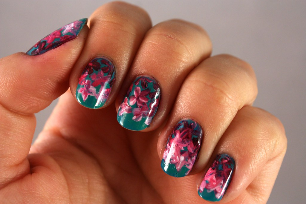 Floral Manicure - R29 Nail Art Nation Week 2