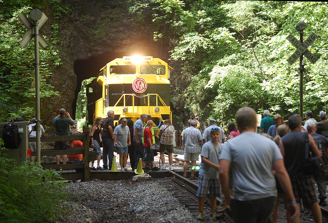 Thousand of people came to the park for Train Day