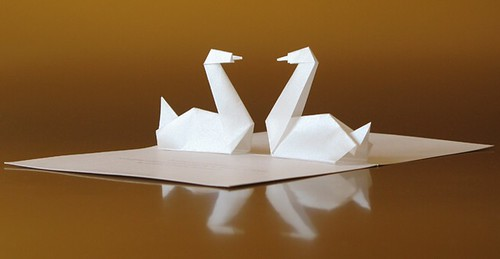Pop-up Swans