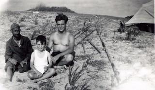 Maroc, plage, 20 juillet 1947