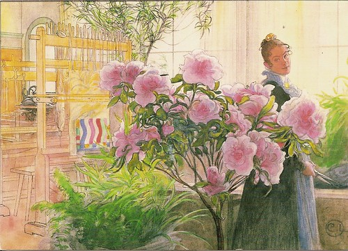 AAW 827 from Alienne - Azaleas by Carl Larrson, 1905