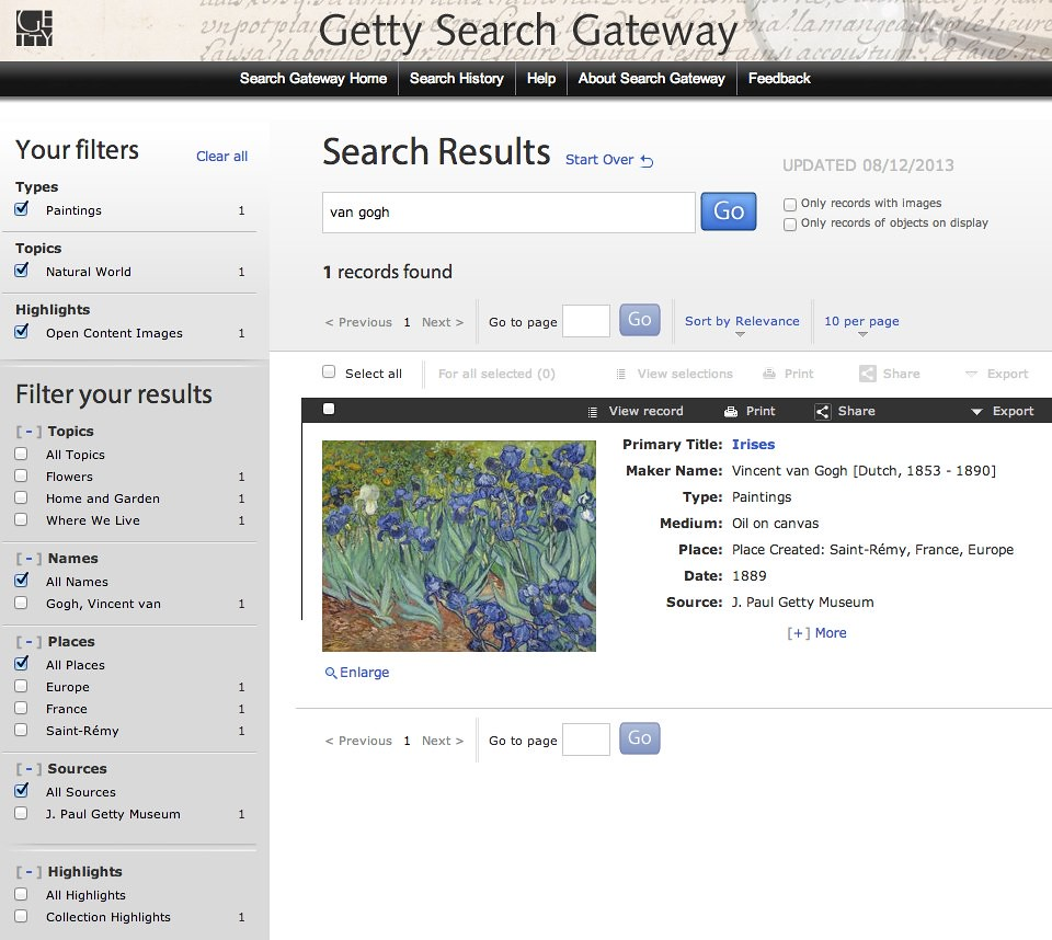 Getty Open Content Search: van Gogh