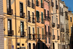 Old houses in Cagliari
