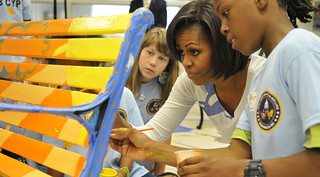 Michelle Obama with Youth