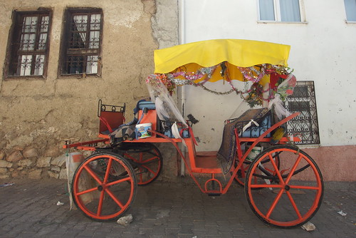 Continuing yesterday's colour theme - a wedding carriage in the backstreets of Tokat by CharlesFred