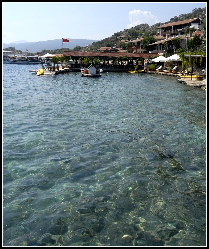 The docks of the village of Simena