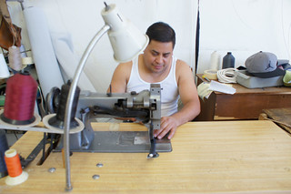 Employee at ML Upholstery. Sewing. | by Upholstery Los Angeles
