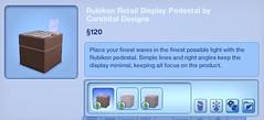 Rubikon Retail Display Pedestal by Corebital Designs