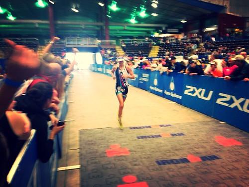 Austin 70.3 finish line