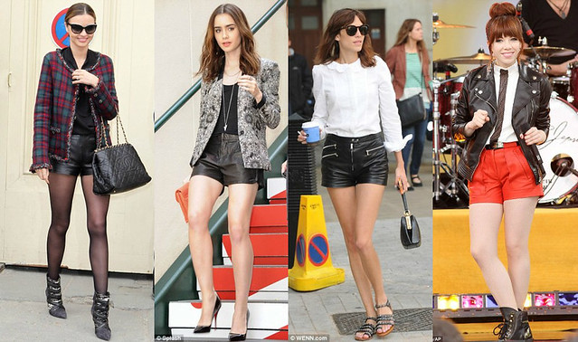 How-to-wear-a-Leather-shorts, leather shorts, how to style leather shorts