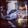 This stuff worked pretty well on all of the black plastic on the scooter.  #MeguiarsUltimateBlack