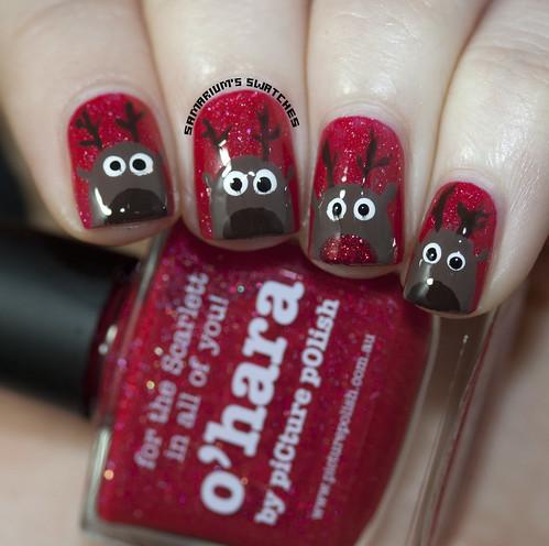Reindeer nail art (4)