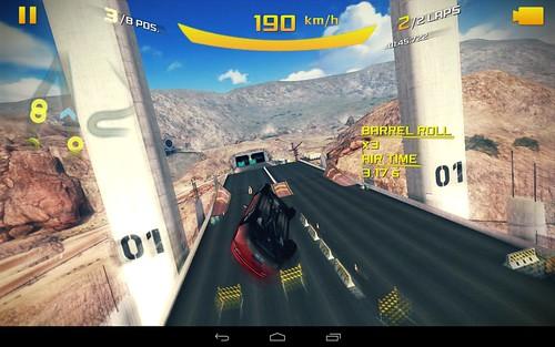 เกม Asphalt 8: Airborne บน Samsung Nexus 10
