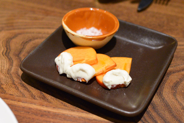 Fuyu Persimmon, Honey Yogurt