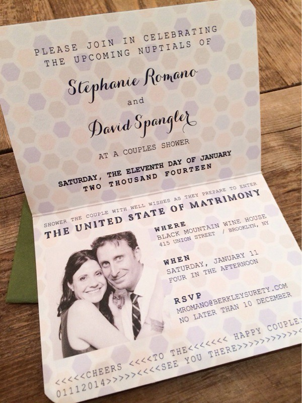 Passport Invitation Brooklyn Limestone