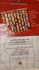 Manifesto inaugurazione_8 settembre 2001