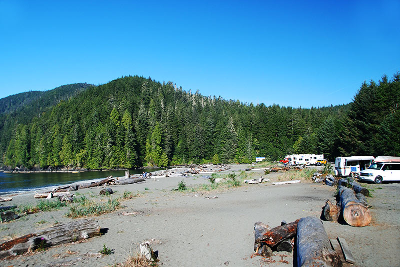 Pacheedaht Campground, Port Renfrew, South Vancouver Island, British Columbia