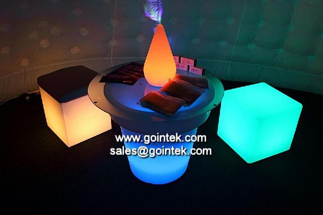 Iluminado Polietileno Exterior Levou Cubos De Gelo