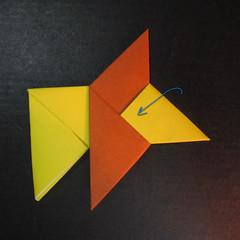 สอนวิธีพับกระดาษเป็นดาวกระจายนินจา (Shuriken Origami) - 015