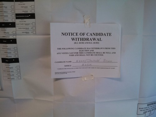 Notice of withdrawal