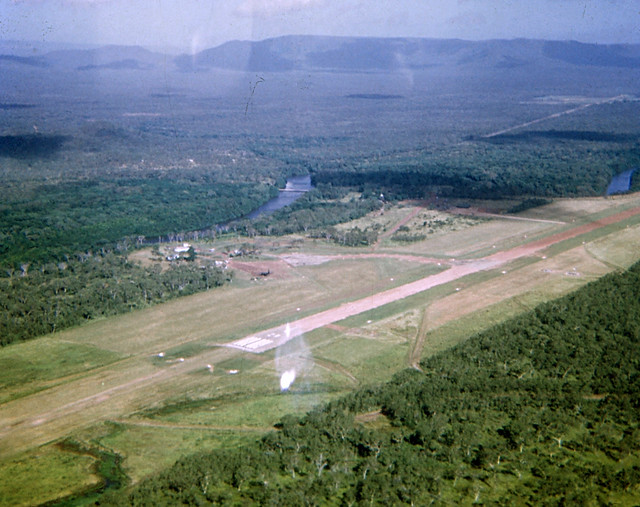 Mar-Apr 1974 - 171 Op Spt Sqn - view of Cooktown Airport on way to Hopevale Mission in Army 'Kiowa' helicopter 02