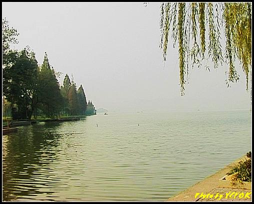 杭州 西湖 (其他景點) - 520 (西湖十景之 柳浪聞鶯 在這裡準備觀看 西湖十景的雷峰夕照 (雷峰塔日落景致)
