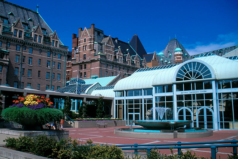 Victoria Conference Centre adjacent to the Empress Hotel, Victoria Downtown, Victoria, Vancouver Island, British Columbia, Canada