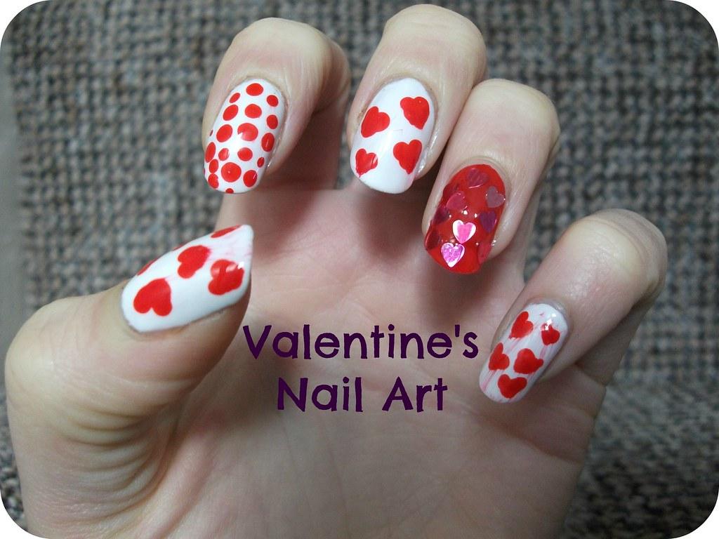 Valentine's Nail Art NOTD
