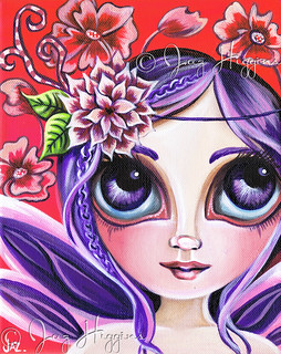 """Mystical Garden Fairy"" Painting by Jaz Higgins"
