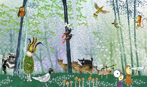 三月世界森林日壽星,森林王子。繪者:湯為荃