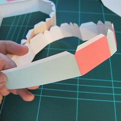 วิธีทำโมเดลกระดาษเป็นกล่องของขวัญรูปหัวใจ (Heart Box Papercraft Model) 007