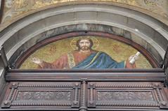 Mosaic decorating door - Alexander Nevsky Cathedral